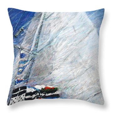Fresh Breeze Throw Pillow by Yuriy  Shevchuk