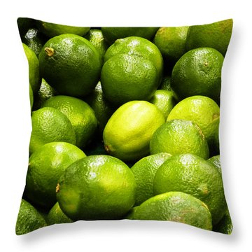Fresh Limes Throw Pillow by Methune Hively