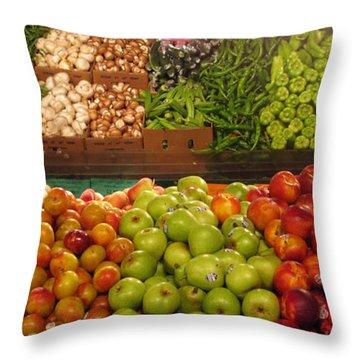 Fresh Market Series. Bounty. Throw Pillow by Ausra Huntington nee Paulauskaite