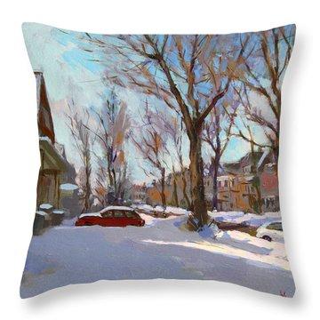 Fresh Snow Throw Pillow by Ylli Haruni