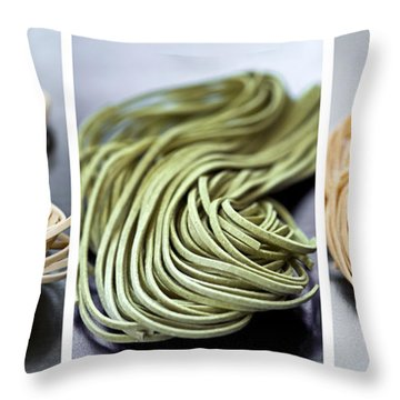 Fresh Tagliolini Pasta Throw Pillow