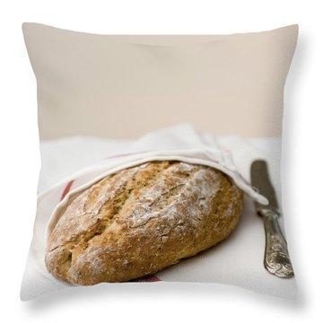 Freshly Baked Whole Grain Bread Throw Pillow by Shahar Tamir