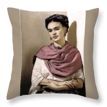 Frida Interpreted 2 Throw Pillow by Lenore Senior