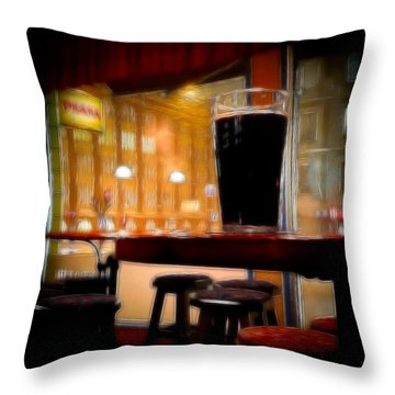 Friday Night Beer Throw Pillow