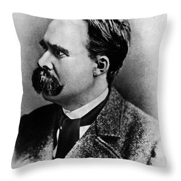 Friedrich Wilhelm Nietzsche, German Throw Pillow by Omikron
