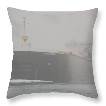 Frieghter Close Up Throw Pillow