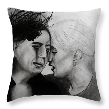 Throw Pillow featuring the drawing Friend Indeed by Michael Cross