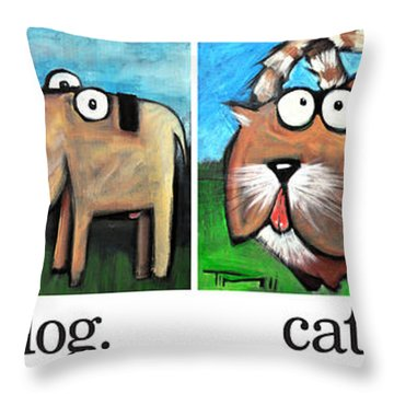Friendly Four Poster Throw Pillow by Tim Nyberg