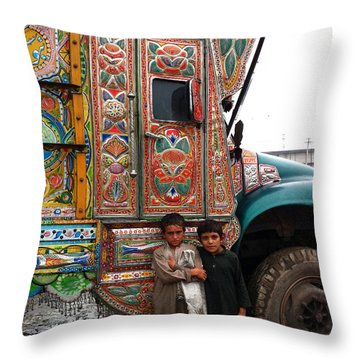 Friends - Take Me For A Ride In Your Jingly Truck Throw Pillow