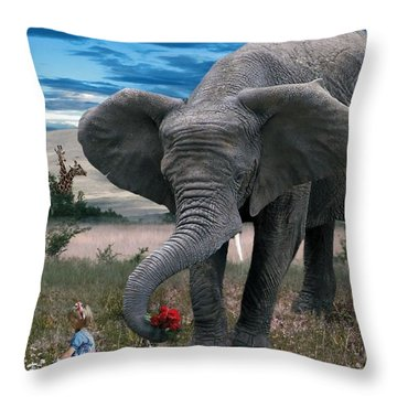 Friends Throw Pillow by Bill Stephens