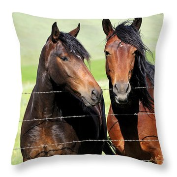 Throw Pillow featuring the photograph Friends by Fran Riley