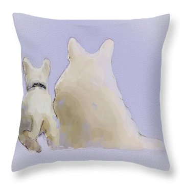 Friendship Throw Pillow by Ron Jones