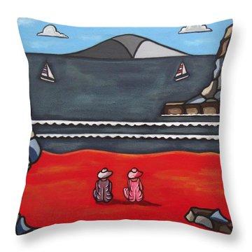 Friendship Throw Pillow by Sandra Marie Adams