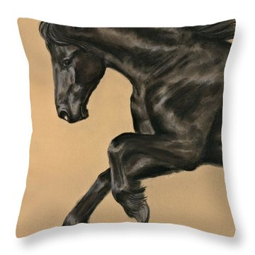 Friesian Portrait Throw Pillow by Sheri Gordon