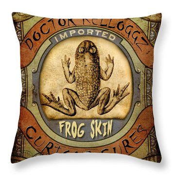 Throw Pillow featuring the digital art Frog Skin by Nada Meeks