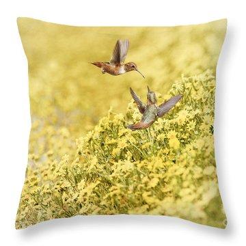 Frolic In The Garden Throw Pillow