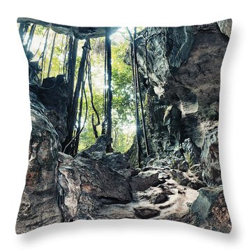 From The Cave Throw Pillow by MotHaiBaPhoto Prints