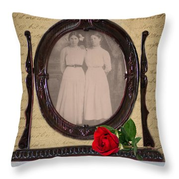 From The Past Throw Pillow by Betty LaRue