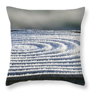 Frosty Swirls Throw Pillow