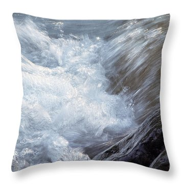Froth Throw Pillow by Sharon Talson