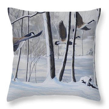 Frozen Over  Sold Prints Available Throw Pillow
