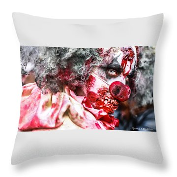 Throw Pillow featuring the photograph Frozen Tremors by Stwayne Keubrick