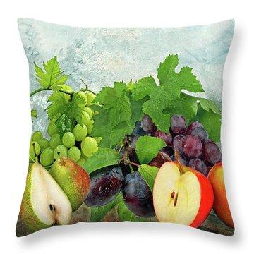 Fruit Garden Throw Pillow by Manfred Lutzius