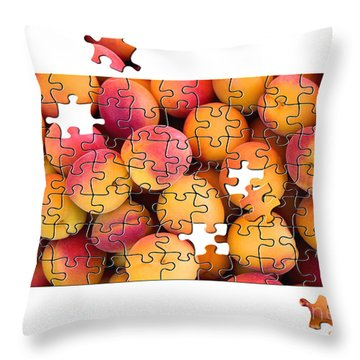 Fruit Jigsaw1 Throw Pillow by Jane Rix
