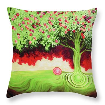 Fruit Tree Throw Pillow