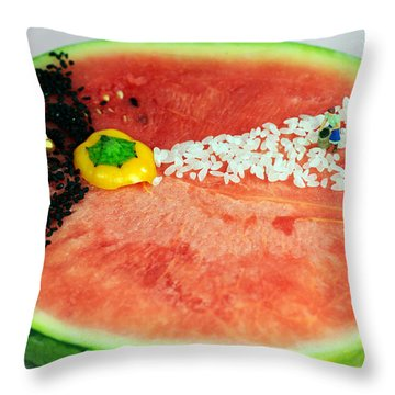 Fruits Depicting Kepler's Law Throw Pillow by Paul Ge