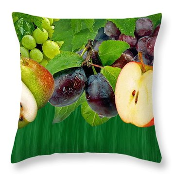 Fruits Throw Pillow by Manfred Lutzius