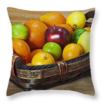 fruits with vitamin C Throw Pillow by Joana Kruse
