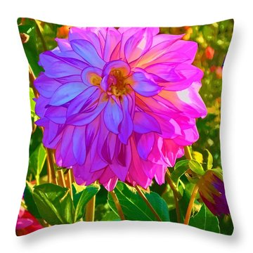 Throw Pillow featuring the photograph Fuchsia Delight by Ken Stanback
