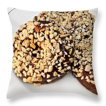 Fudge Nut Delights Throw Pillow by Andee Design