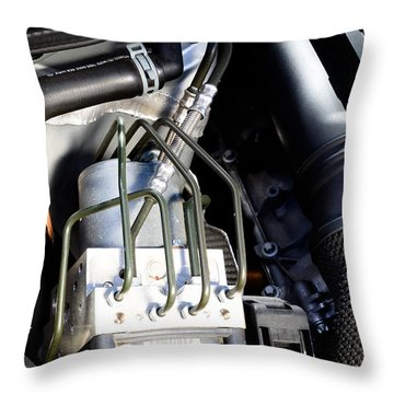 Fuel Injection System Throw Pillow by Photo Researchers