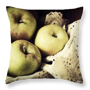 Fuji Apples Throw Pillow