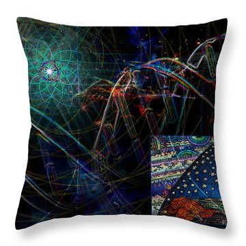 Throw Pillow featuring the digital art Fulcrum by Kenneth Armand Johnson