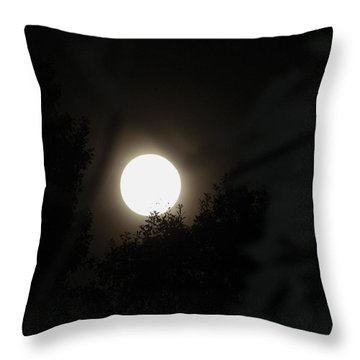 Throw Pillow featuring the photograph Full Moon Beauty by Ester  Rogers
