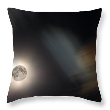 Full Moon II Throw Pillow by Jeff Galbraith