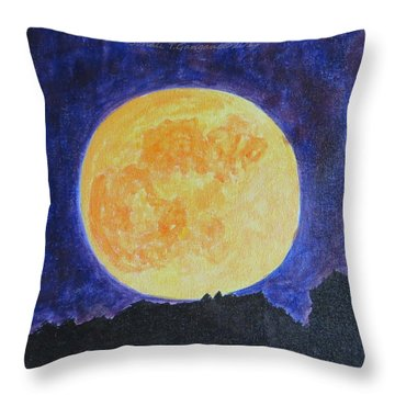 Throw Pillow featuring the painting Full Moon by Sonali Gangane