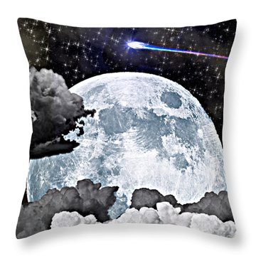 Full Moon Throw Pillow by Thomas OGrady