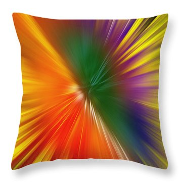 Full Of Energy Throw Pillow by Saad Hasnain