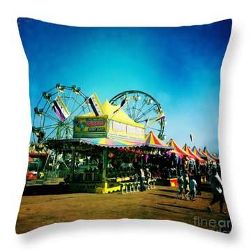 Throw Pillow featuring the photograph Fun At The Fair by Nina Prommer