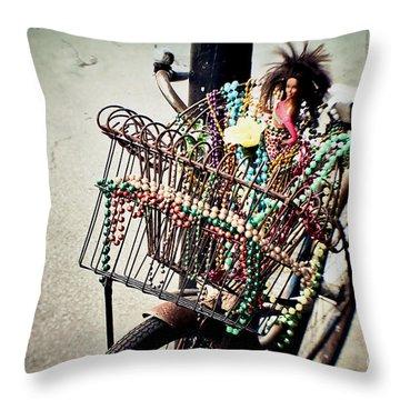 Funky Ride 2 Throw Pillow by Scott Pellegrin