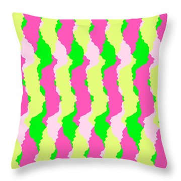 Funky Stripes Throw Pillow by Louisa Knight