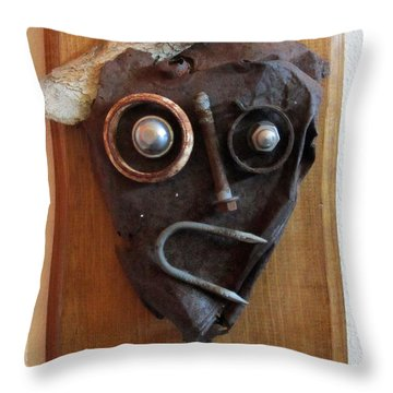 Funny Bone Throw Pillow by Snake Jagger
