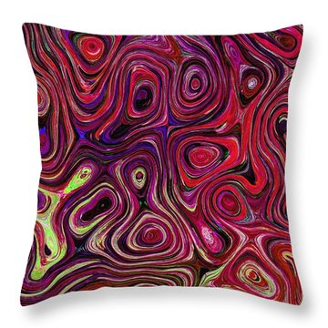 Fused Throw Pillow by Michael Garyet