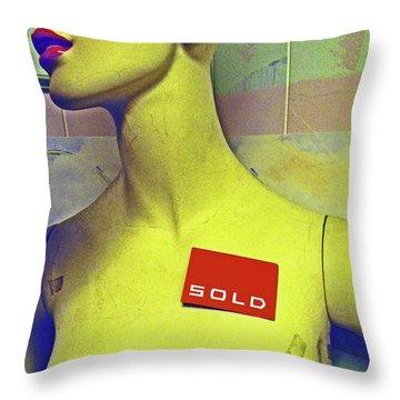 Future Angst Throw Pillow by Joe Jake Pratt