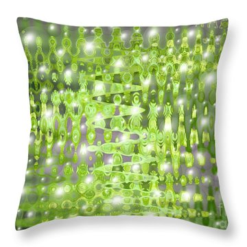 Future Forest Abstract Throw Pillow by Carol Groenen