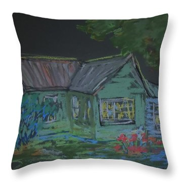 Throw Pillow featuring the painting Gabby's House by Francine Frank
